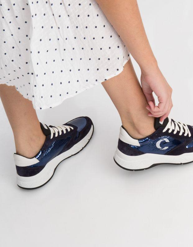 נעלי נשים - Crime London - סניקרס MAGNETIC מבריק - כחול