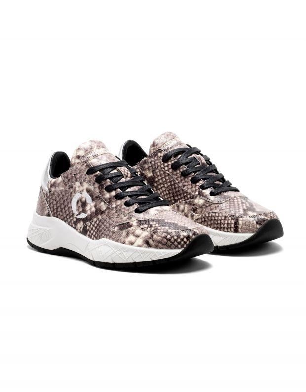 נעלי נשים - Crime London - סניקרס MAGNETIC נחש - אפור   לבן
