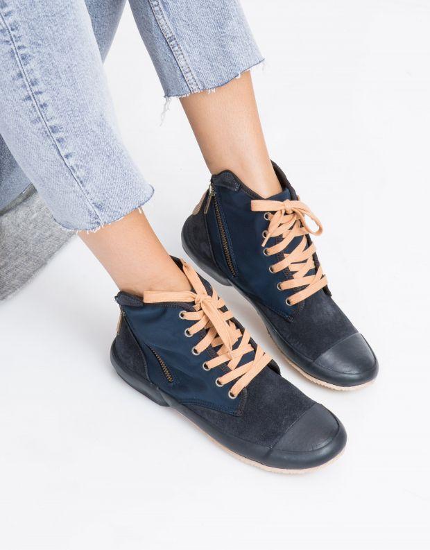 נעלי נשים - Aro - סניקרס גבוה OANA - כחול