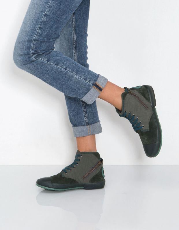 נעלי נשים - Aro - סניקרס גבוה OANA - ירוק