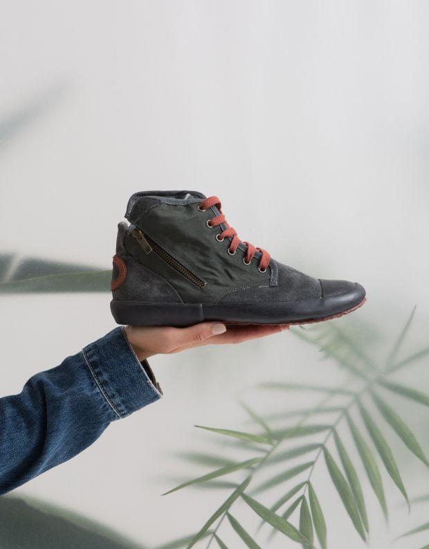 נעלי נשים - Aro - סניקרס גבוה OANA - אפור