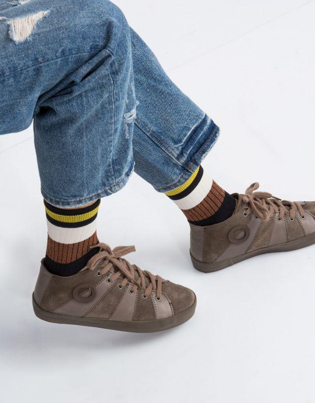 נעלי נשים - Aro - סניקרס LETY משולב - חום