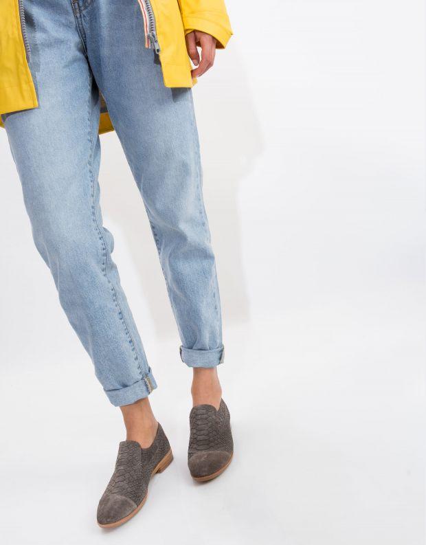 נעלי נשים - Jeffrey Campbell - נעל BARKLEY נחש - אפור נחש