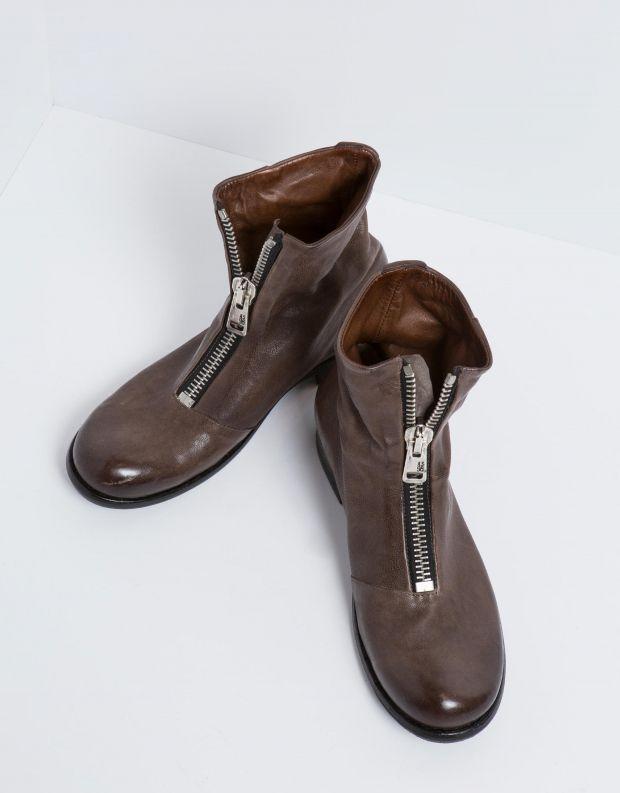 נעלי גברים - A.S. 98 - מגפון HIVES רוכסן קדמי - אפור