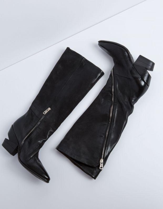 נעלי נשים - A.S. 98 - מגף TINGET רוכסן - שחור