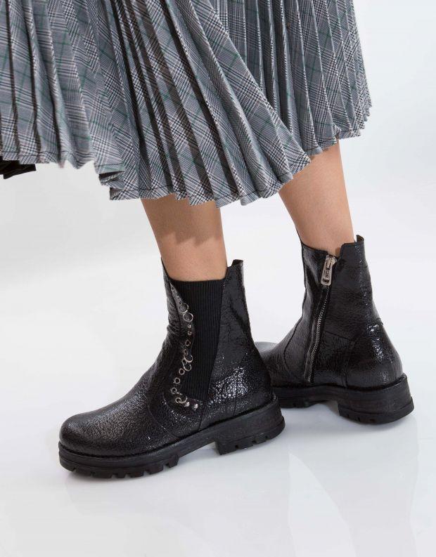 נעלי נשים - A.S. 98 - מגפון ENTER גומיה - שחור מיוחד