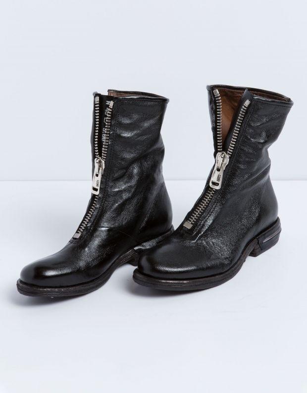 נעלי נשים - A.S. 98 - מגף TEAL רוכסן - שחור
