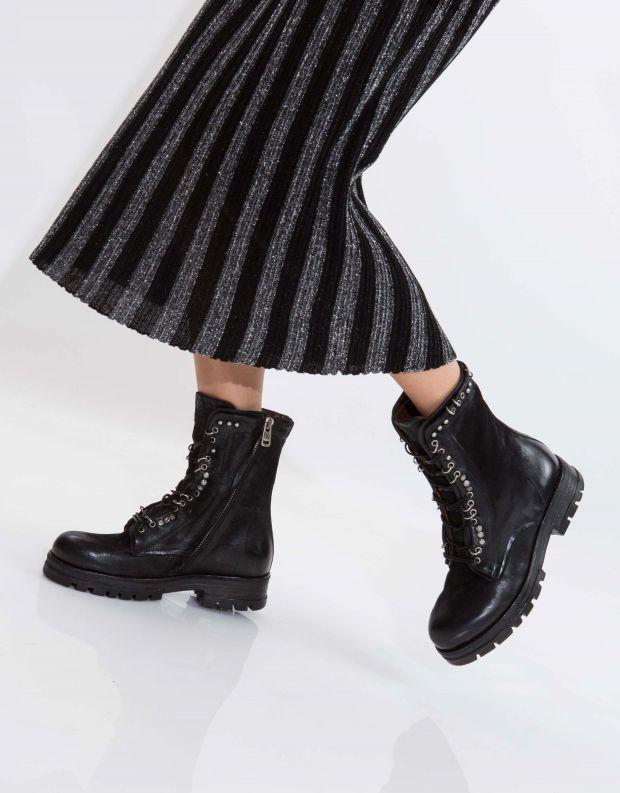 נעלי נשים - A.S. 98 - מגף ENTER שרוך - שחור
