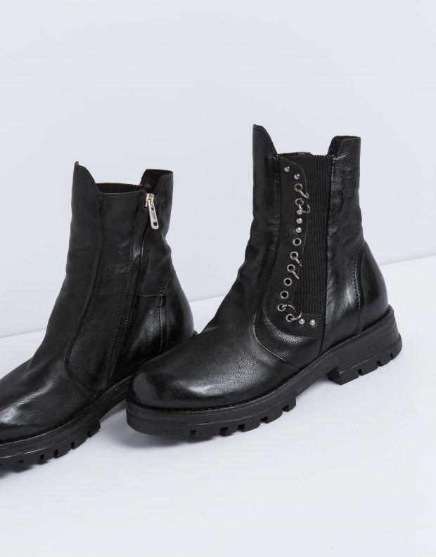 נעלי נשים - A.S. 98 - מגפון ENTER גומיה - שחור