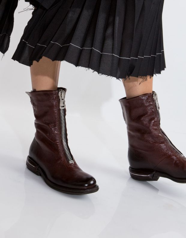 נעלי נשים - A.S. 98 - מגף TEAL רוכסן - חום