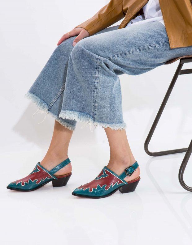 נעלי נשים - Schutz - סנדל CHERYL - כחול   אדום