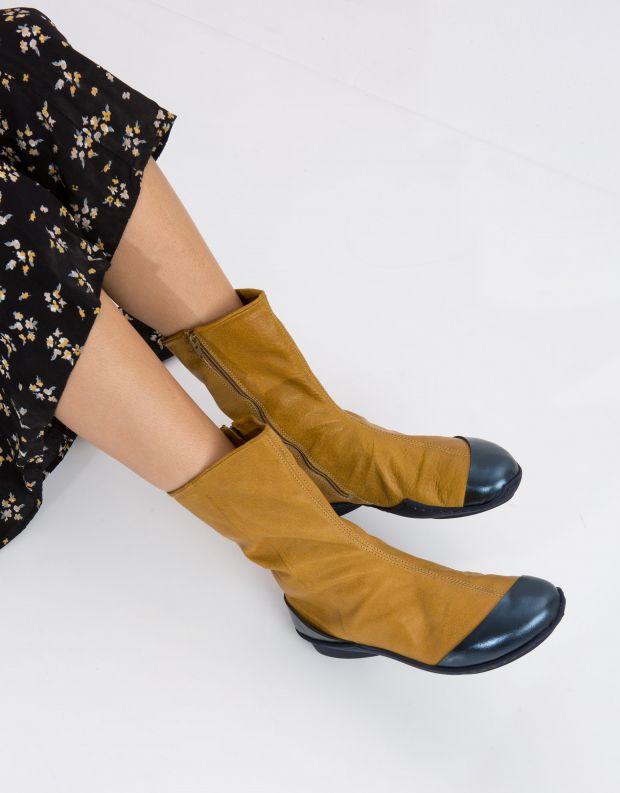 נעלי נשים - Trippen - מגפון DOLPHIN WAVE - חרדל