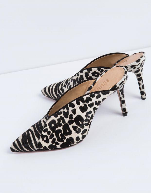 נעלי נשים - Schutz - קבקב ELLE - לבן   שחור