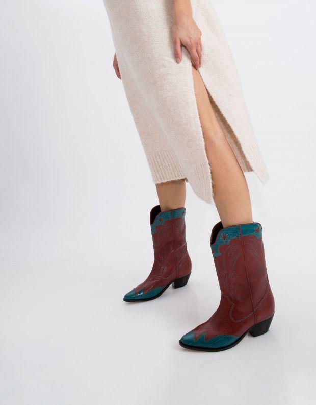 נעלי נשים - Schutz - מגף SELITA - כחול   אדום