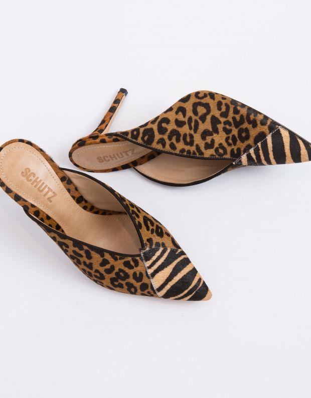 נעלי נשים - Schutz - קבקב ELLE - חום   שחור