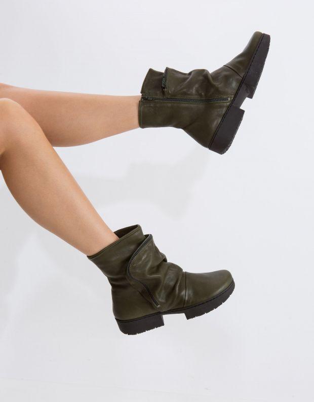 נעלי נשים - Trippen - מגפון CLUTCH SPORT - חאקי