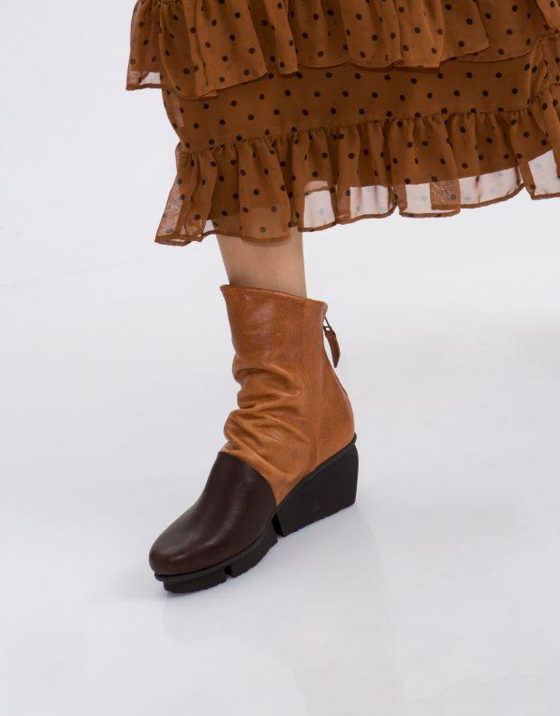 נעלי נשים - Trippen - מגפון LAVA SPLITT - חום