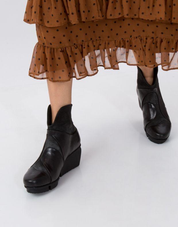 נעלי נשים - Trippen - מגפון MARBLE SPLITT - שחור