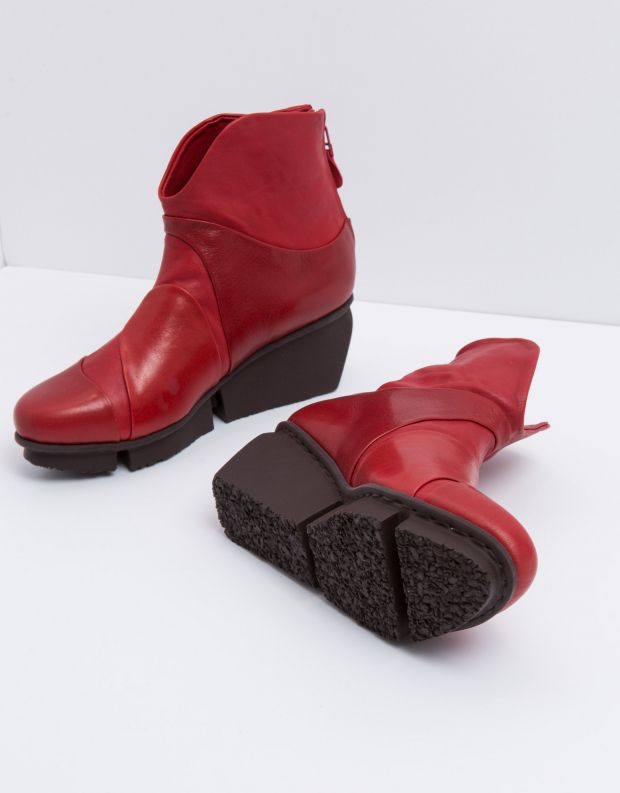 נעלי נשים - Trippen - מגפון MARBLE SPLITT - אדום