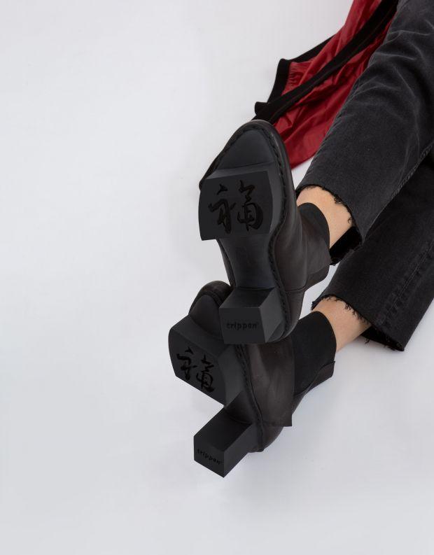 נעלי נשים - Trippen - מגפון PANOPLY HAPPY - שחור