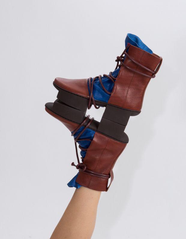 נעלי נשים - Trippen - מגפון PULLEY BOX - כחול   בורדו