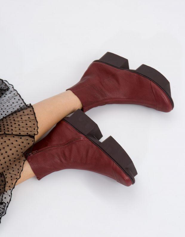 נעלי נשים - Trippen - מגפון NOON BOX - בורדו