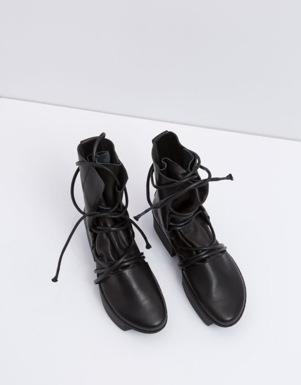 נעלי נשים - Trippen - מגפון PULLEY BOX - שחור