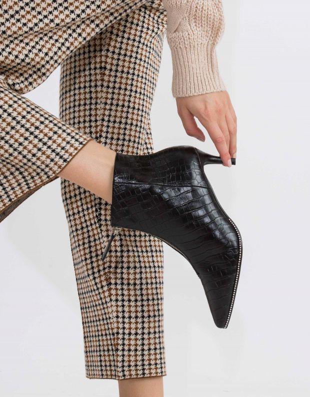 נעלי נשים - SOL SANA - מגפון FELIX - שחור קרוקו