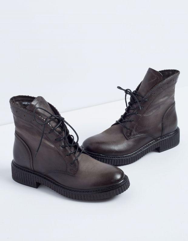 נעלי נשים - Mjus - מגפון CREEP שרוכים - אפור כהה