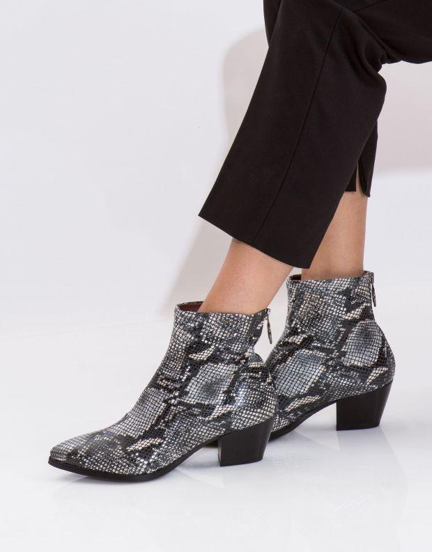 נעלי נשים - Mjus - מגפון SPLEEN נחש - שחור לבן