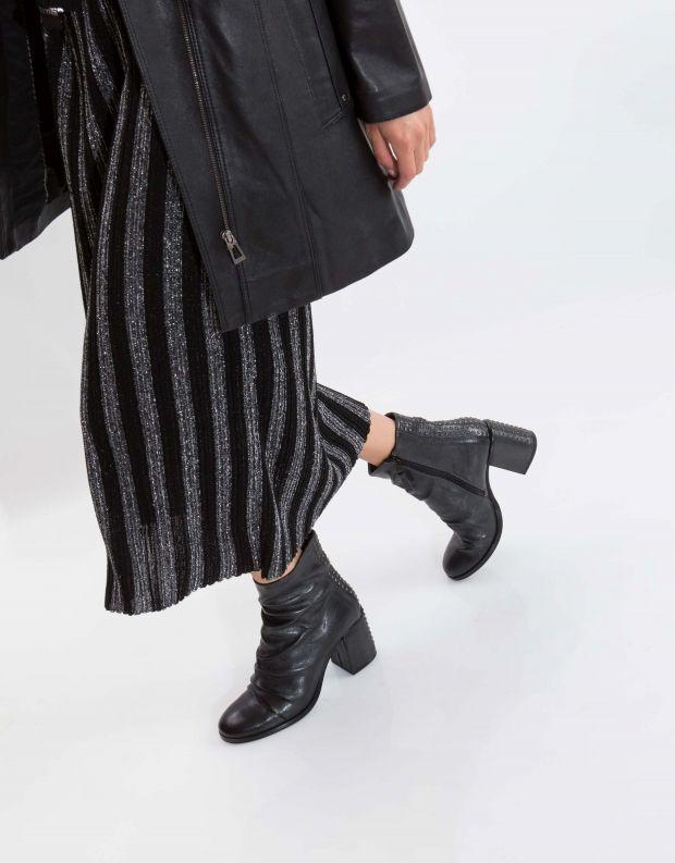 נעלי נשים - Mjus - מגפון TWISTER כיווצים ניט - שחור מטאלי