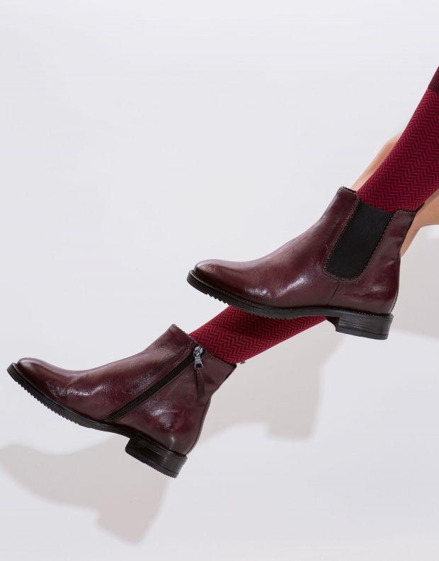 נעלי נשים - Mjus - מגפון ZARKO גומיות - בורדו