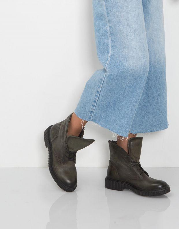 נעלי נשים - Mjus - מגפון CREEP שרוכים - חאקי