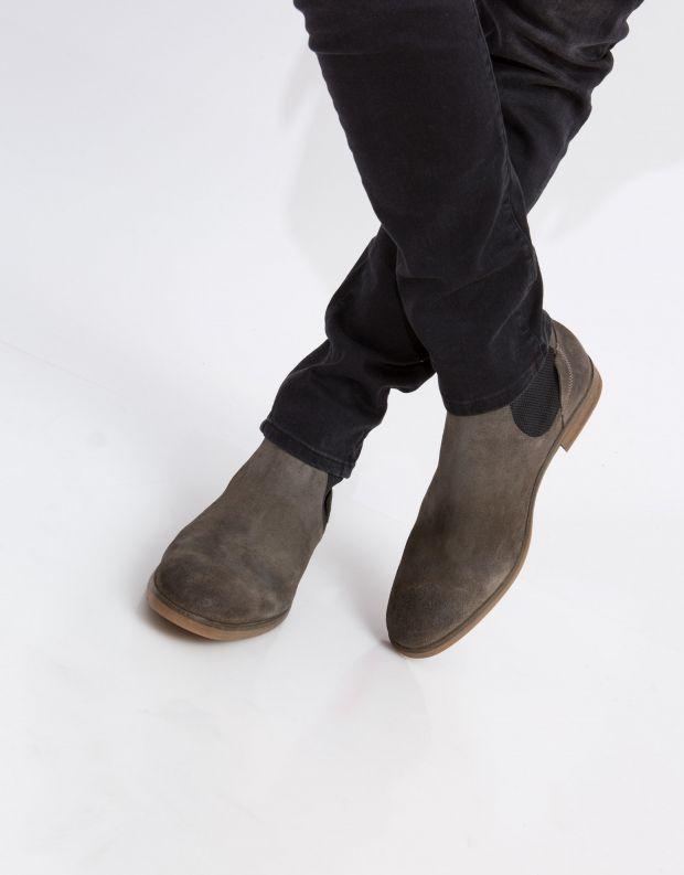 נעלי גברים - Hudson - מגפון WATCHLEY זמש - אבן