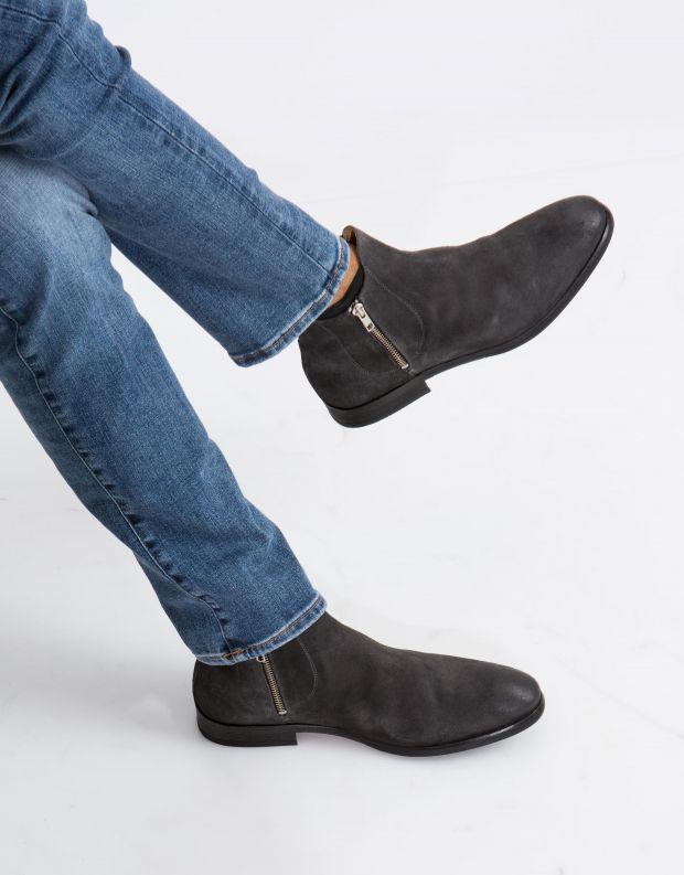 נעלי גברים - Hudson - מגפון MITCHELL זמש - אפור