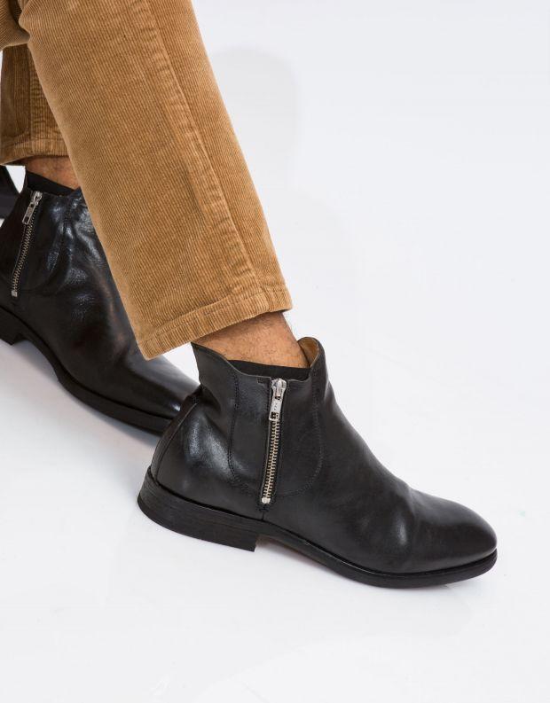 נעלי גברים - Hudson - מגפון MITCHELL עור - שחור