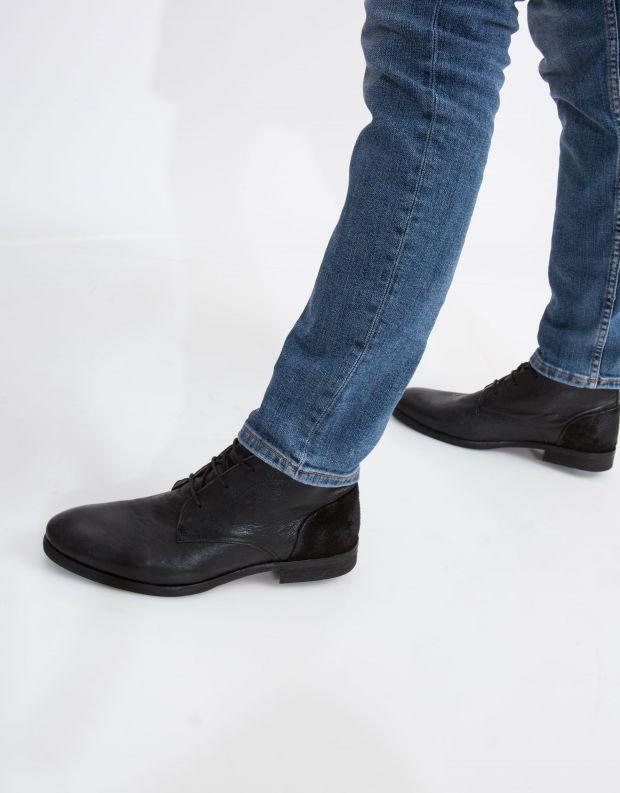 נעלי גברים - Hudson - נעל RYECROFT עור - שחור