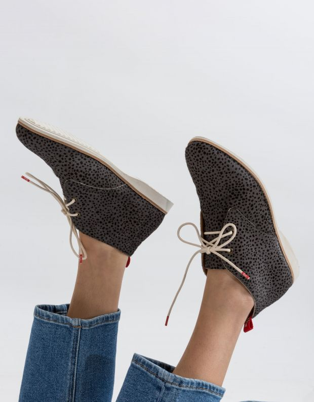 נעלי נשים - Rollie - נעל CHUKKA - אפור   שחור