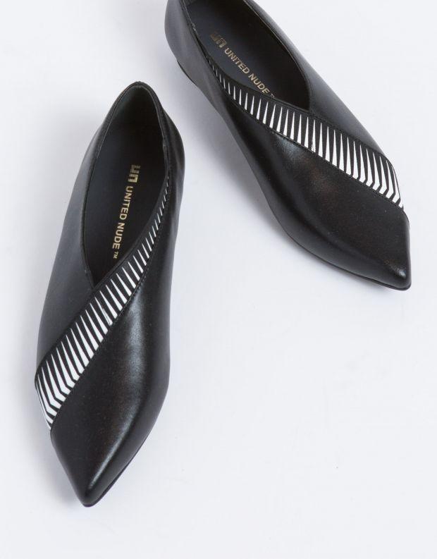 נעלי נשים - United Nude - סירה ZINK PEEK LO - שחור לבן