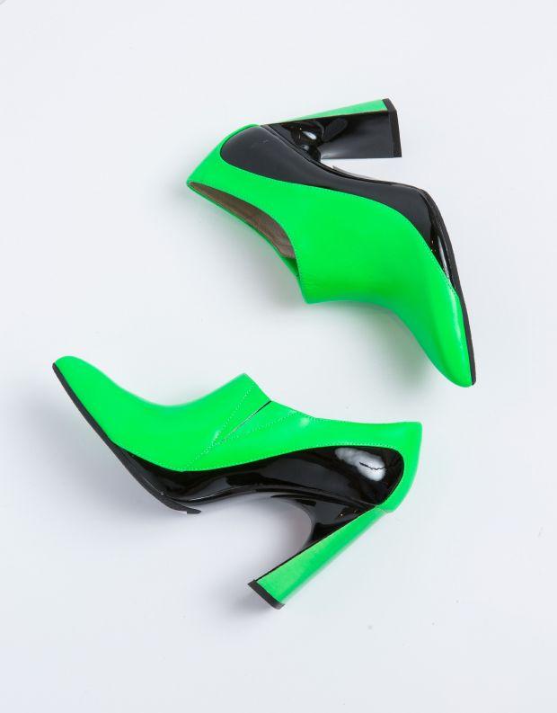 נעלי נשים - United Nude - נעל MOLTEN BOOTIE - ירוק