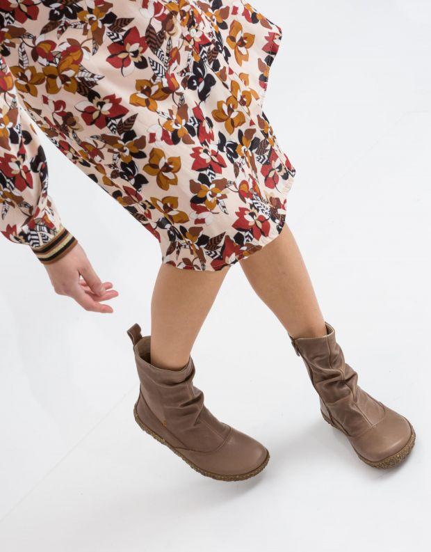 נעלי נשים - El Naturalista - מגפון NIDO כיווצים - אפור