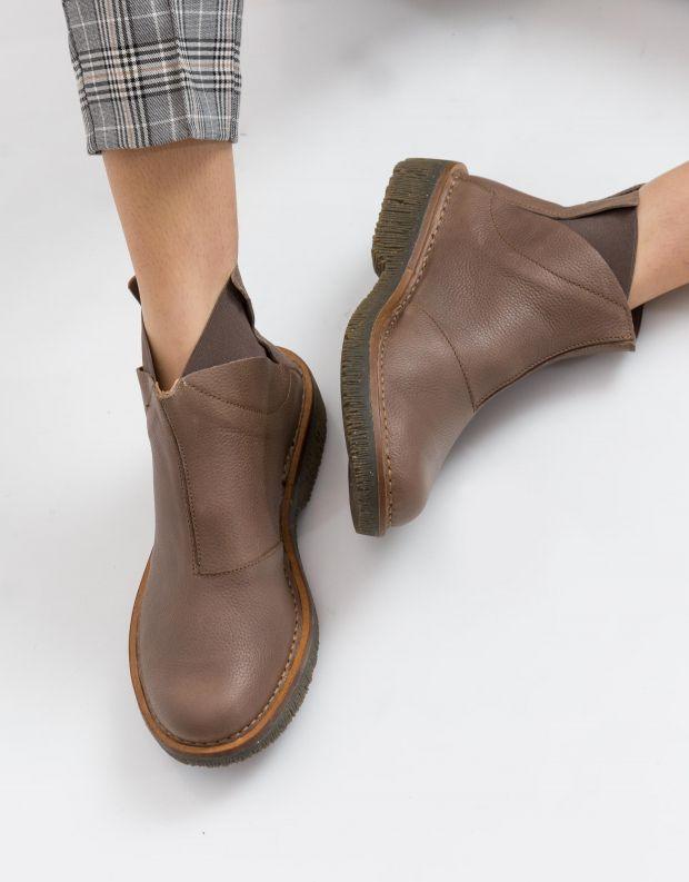 נעלי נשים - El Naturalista - מגפון VOLCANO - אפור