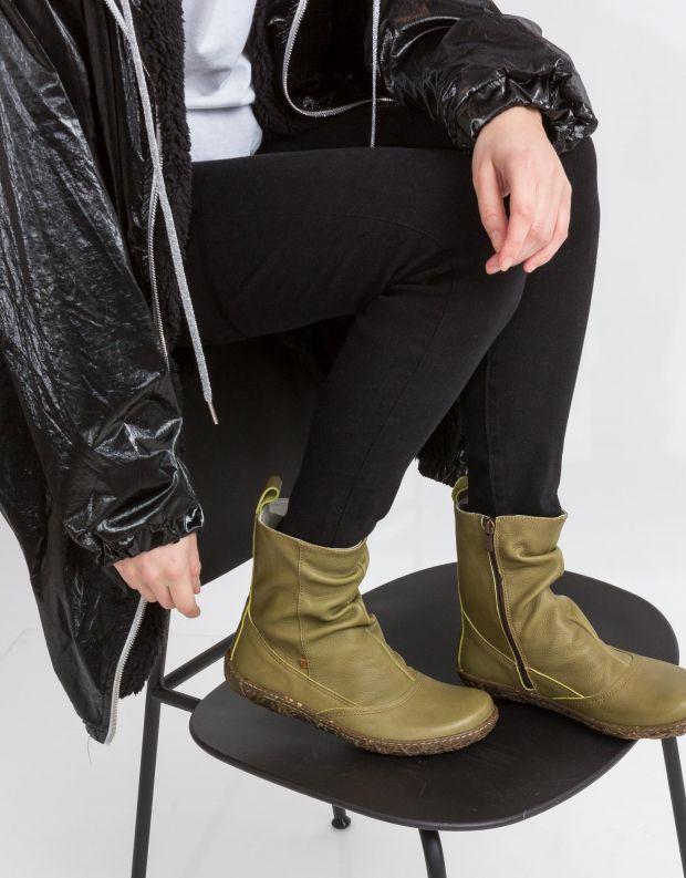 נעלי נשים - El Naturalista - מגפון NIDO כיווצים - ירוק