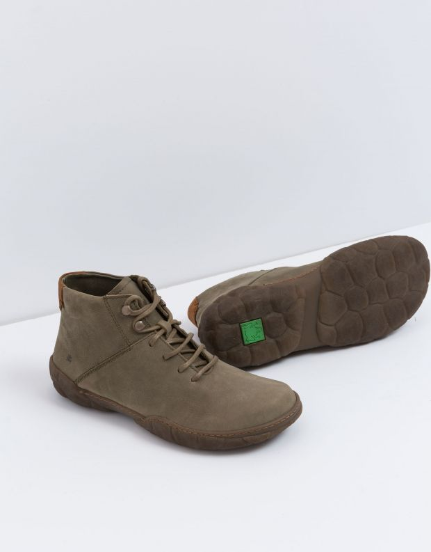 נעלי גברים - El Naturalista - נעל גבוהה TURTLE - חאקי