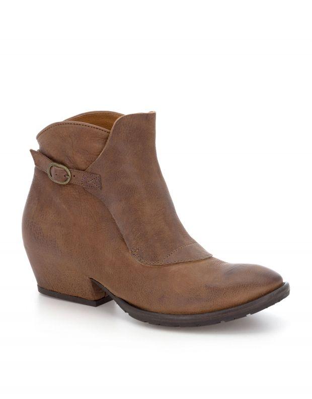 נעלי נשים - Vialis - מגפון JESSI - חום בהיר