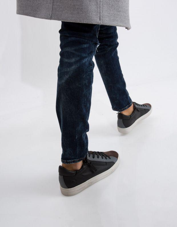 נעלי גברים - Crime London - סניקרס JAVA LO - שחור חום