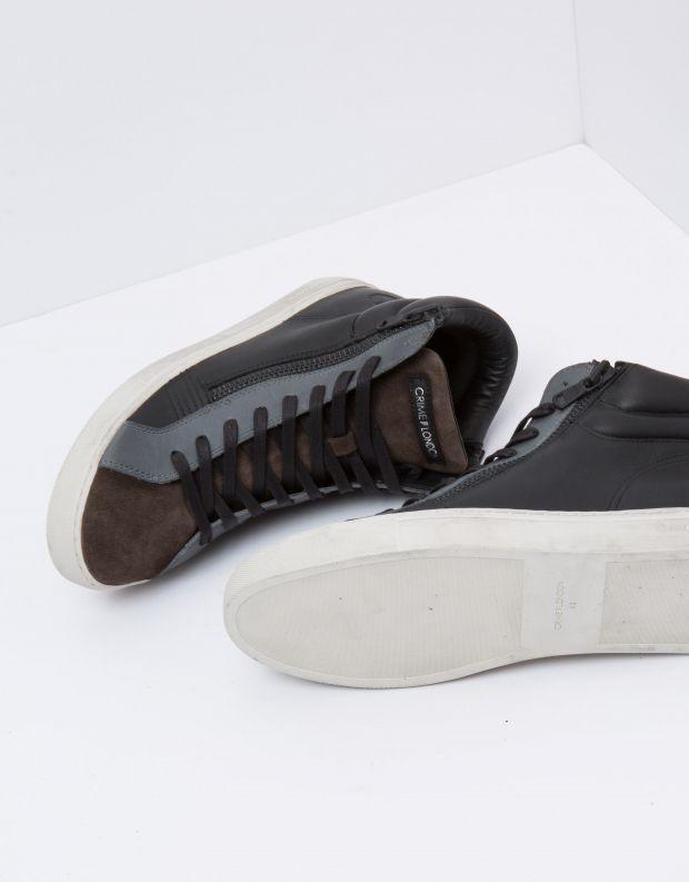 נעלי גברים - Crime London - סניקרס JASON - שחור חום