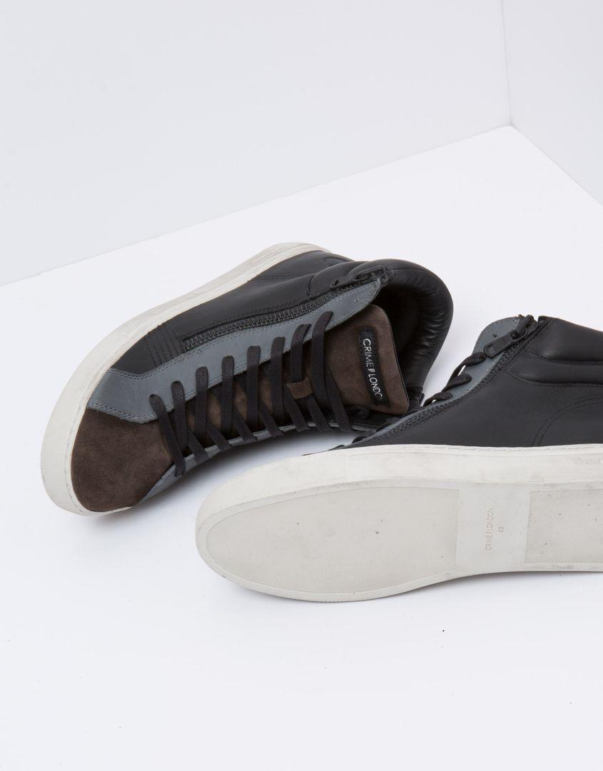 נעלי גברים - Crime London - סניקרס JASON - שחורחום