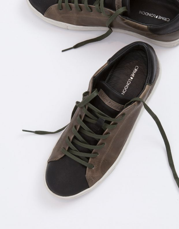 נעלי גברים - Crime London - סניקרס BEAT - חאקי   שחור