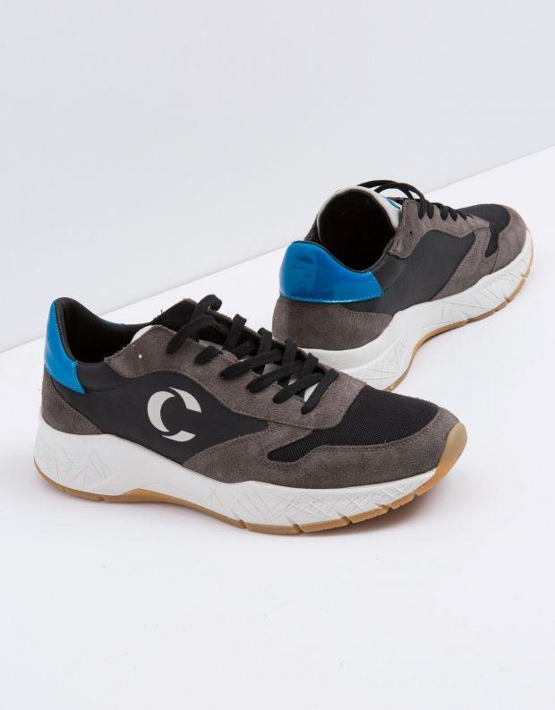 נעלי גברים - Crime London - סניקרס FUSE - אפור   שחור